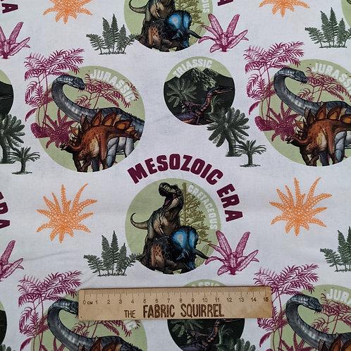 Dinosaur Eras - Natural History Museum Fabric