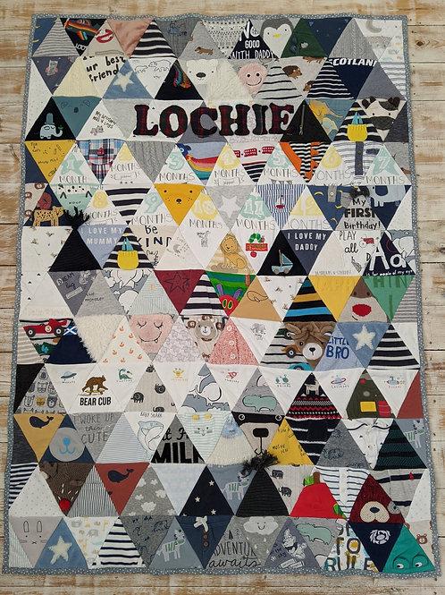 Large Geometric Triangle Keepsake Quilt