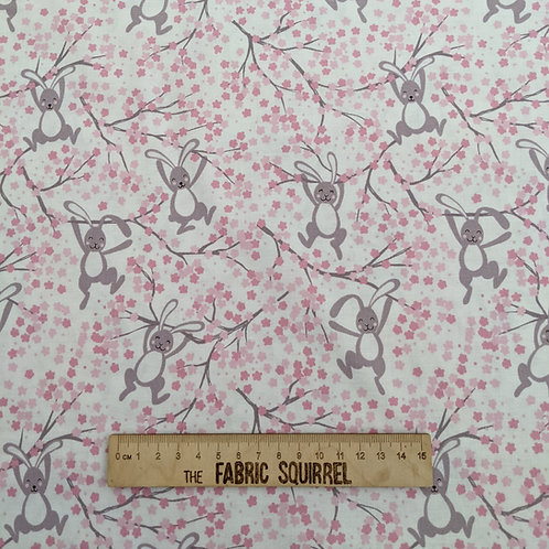 Bunny Blossom Fabric - Bunny Hop by Lewis and I