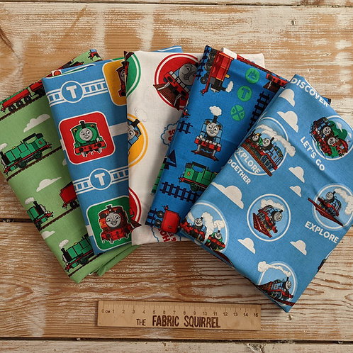 Thomas and Friends Fat Quarters x5