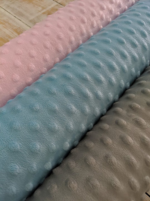 Dimple Fleece - Pink Grey and Blue