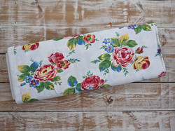 Cottage Blooms Large White Floral Fabric - Ditsy Floral Cotton Material
