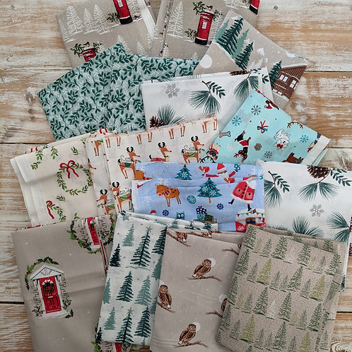 Christmas Fabric Offcuts and End Bolts