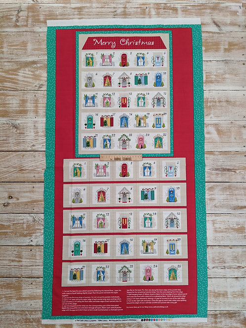 Home Sweet Home Advent Panel - Christmas Advent Calendar Panel