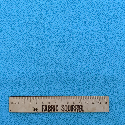 Turquoise Blue Dotty Fabric - Lewis and Irene