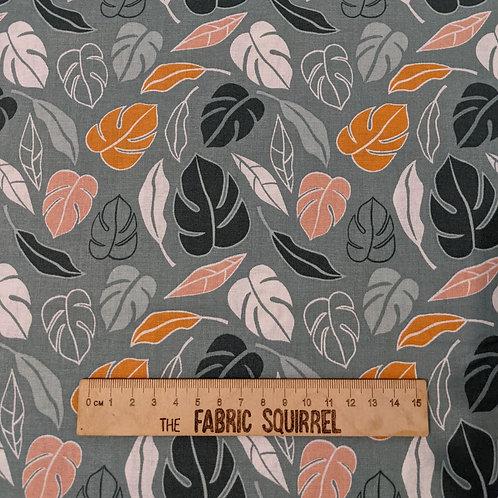 Sage Green Jungle Leaves - Botanical Elements Myrtle