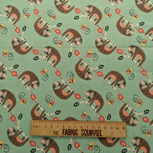 Sloth Fabric - Wild About You from Fabric Editions