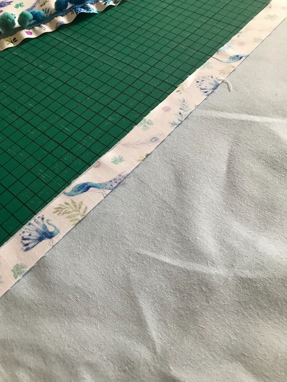 Add a binding finish with your scraps