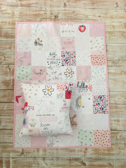 Medium quilt and matching cushion