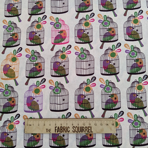 Pretty Bird Cages -  Meadow Birds Fabric Collection