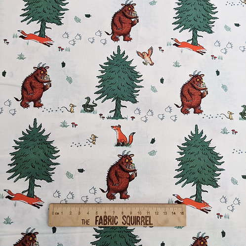 White Walk in the Woods Fabric - The Gruffalo by Julia Donaldson