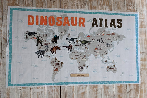 Dinosaur Atlas Quilt Panel - Age of the Dinosaurs from the Natural History Museu