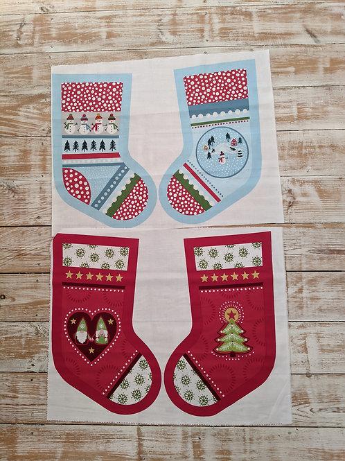 Christmas Stocking Panel Sewing Kit - Panel or Full Kit - Lewis and Irene