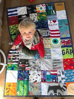 Reid and his medium keepsake quilt