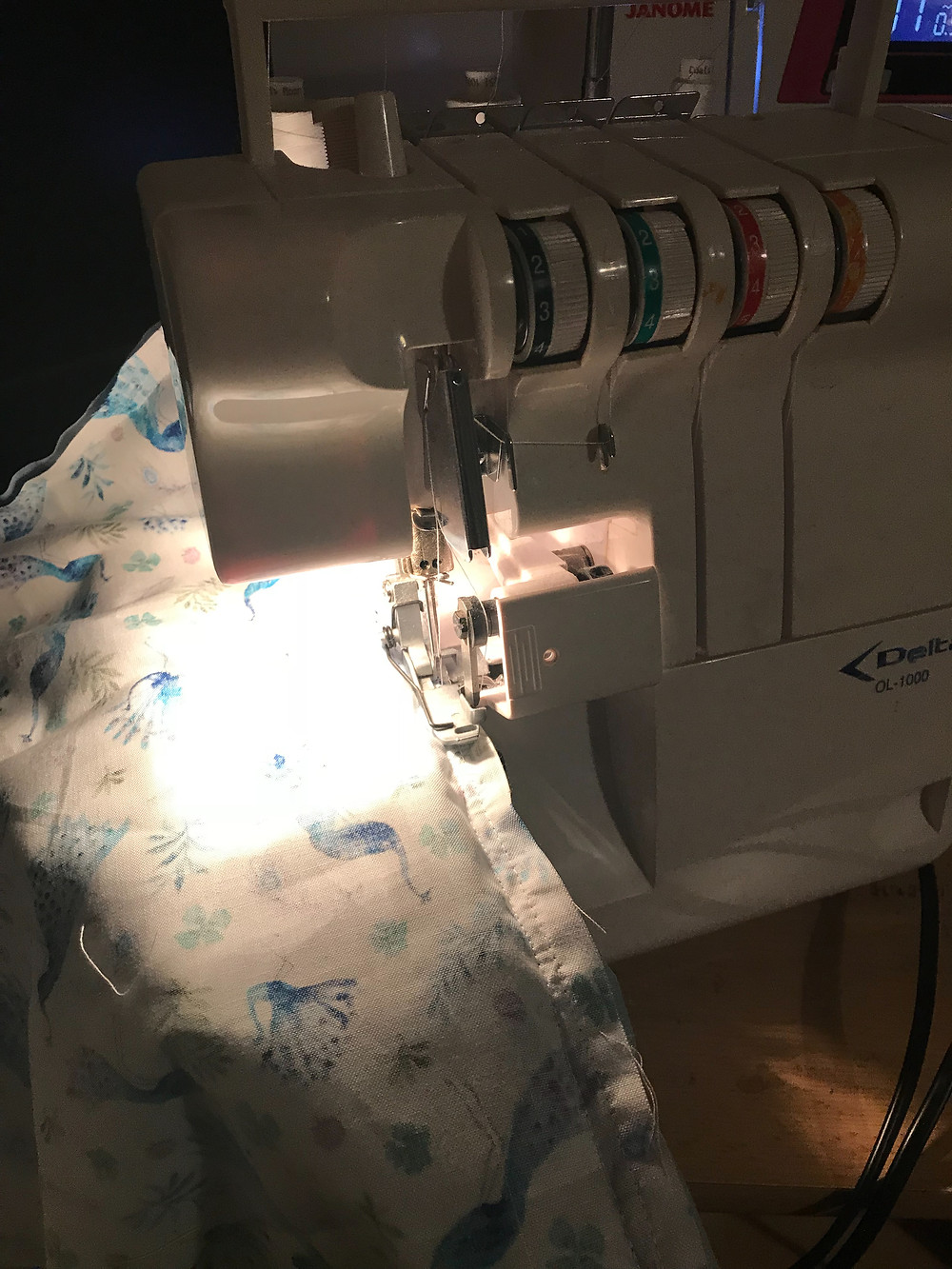 Finish your edges with a zig zag stitch or an overlocker