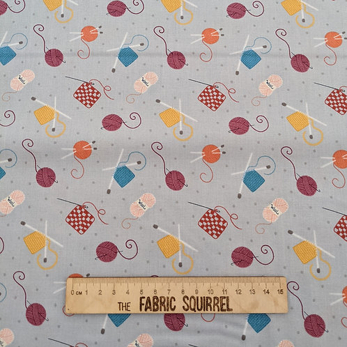 Grey Knitting and Crochet Fabric - Small World Crafts by Lewis and Irene