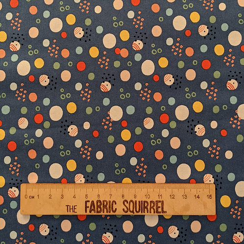Blue Spotty - Wild About You from Fabric Editions
