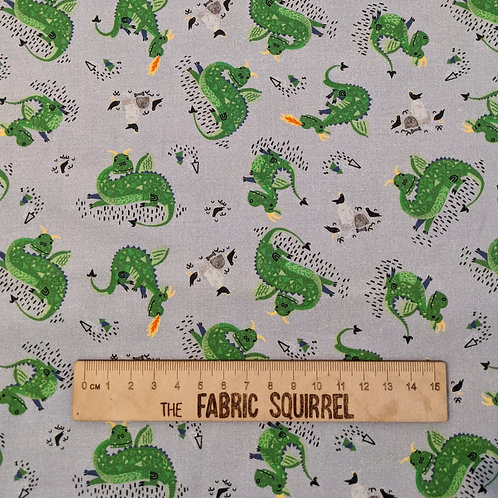 Dragon Fabric - Once Upon a Time from Camelot Fabrics