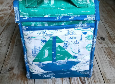 Nautical Patchwork Lunch Box