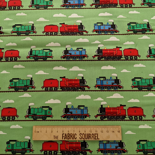 Thomas and Friends - Green Track Fabric