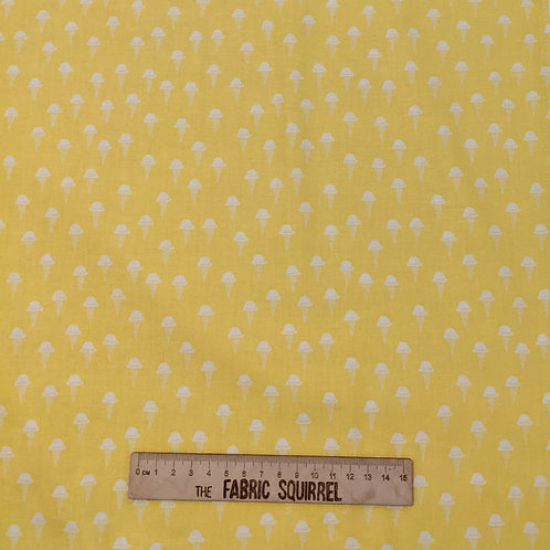 Yellow Ice Cream Fabric - Squeeze by Figo Fabrics