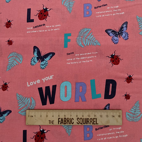 Love Your World - Natural History Museum Fabric