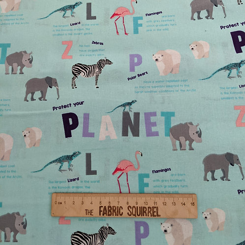 Protect Your Planet - Natural History Museum Fabric