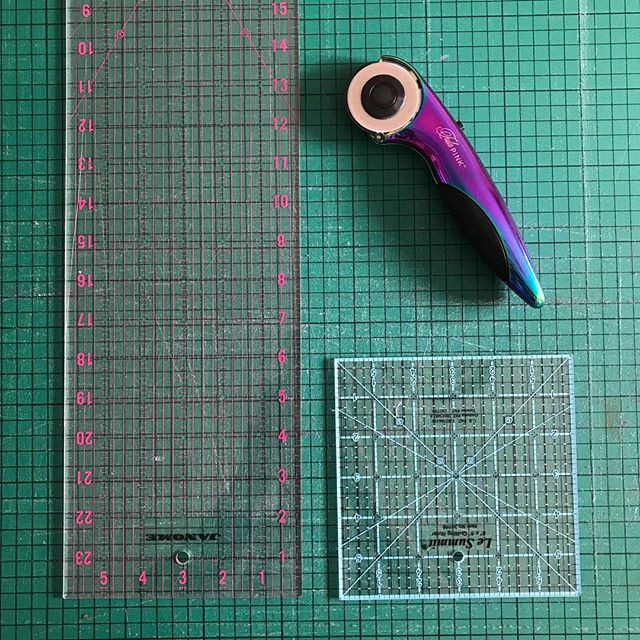 Rulers and rotary cutter