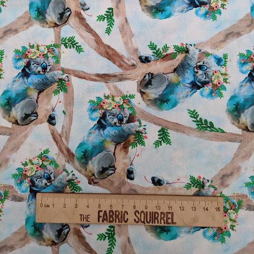 Koala Fabric - Party Animals by 3 Wishes Fabrics