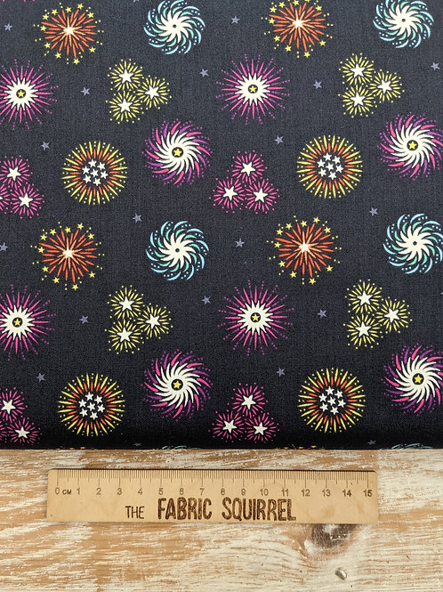 Firework Fabric Glow in the Dark - Lewis and Irene Small Things Glow