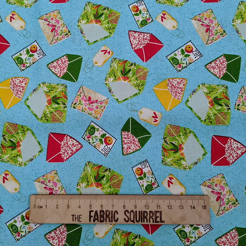 Envelope, Letters and Stationery Fabric - Create and Hobby by 3 Wishes Fabric