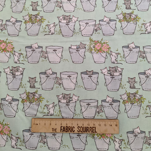 Green Buckets of Kittens - Playful Kittens by Craft Company