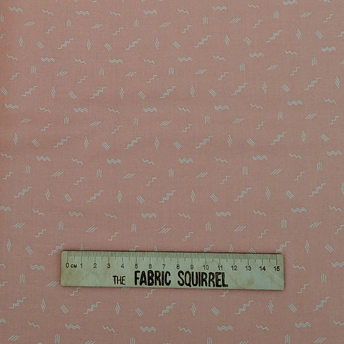Pale Coral Pink Zig Zags - Treehouse Collection from Figo Fabrics