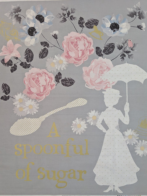 Mary Poppins A Spoonful of Sugar Quilt Panel