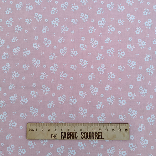 Pale Pink Floral  - Hootsie from Craft Cotton Company