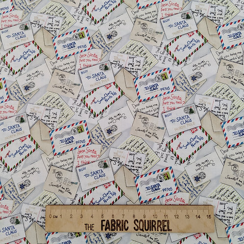 Letters to Santa Christmas Fabric - All the Trimmings by Maywood Studio
