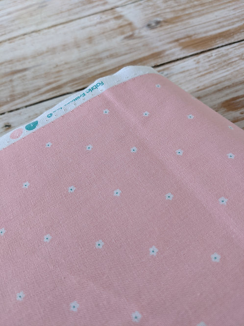 Ditsy Pink Flowers - Spring Bunny Fabric