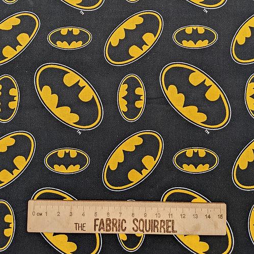 Batman Fabric - Black and Yellow Batman Logo