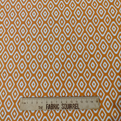 Orange Geometric Print - Botanical Elements Myrtle