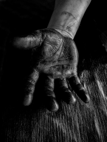 Kaspar Hamacher's hand