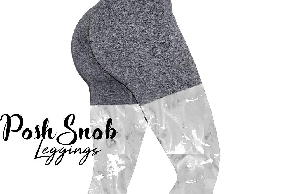PoshSnob Heather Grey Deep Scrunch Shorts Set