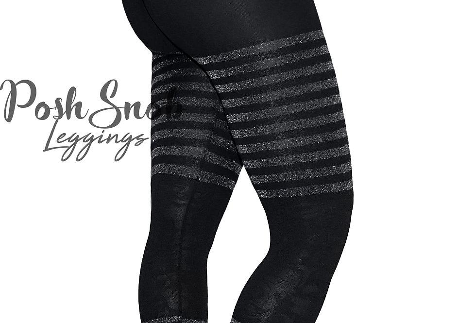 "PoshSnob ""Thin Skin"" Glitter Stripes Leggings"