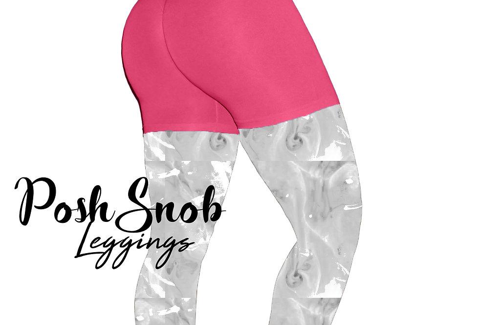 "PoshSnob ""Thin Skin"" Passion Pink Deep Scrunch Lounge Shorts"