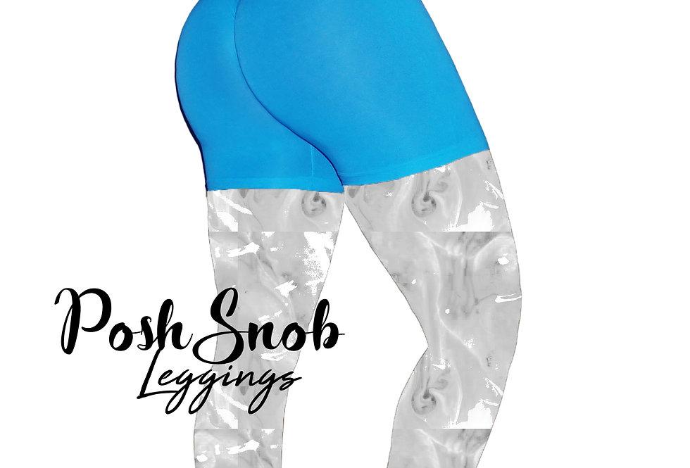 "PoshSnob ""Thin Skin"" Tropical Blue Deep Scrunch Lounge Shorts"