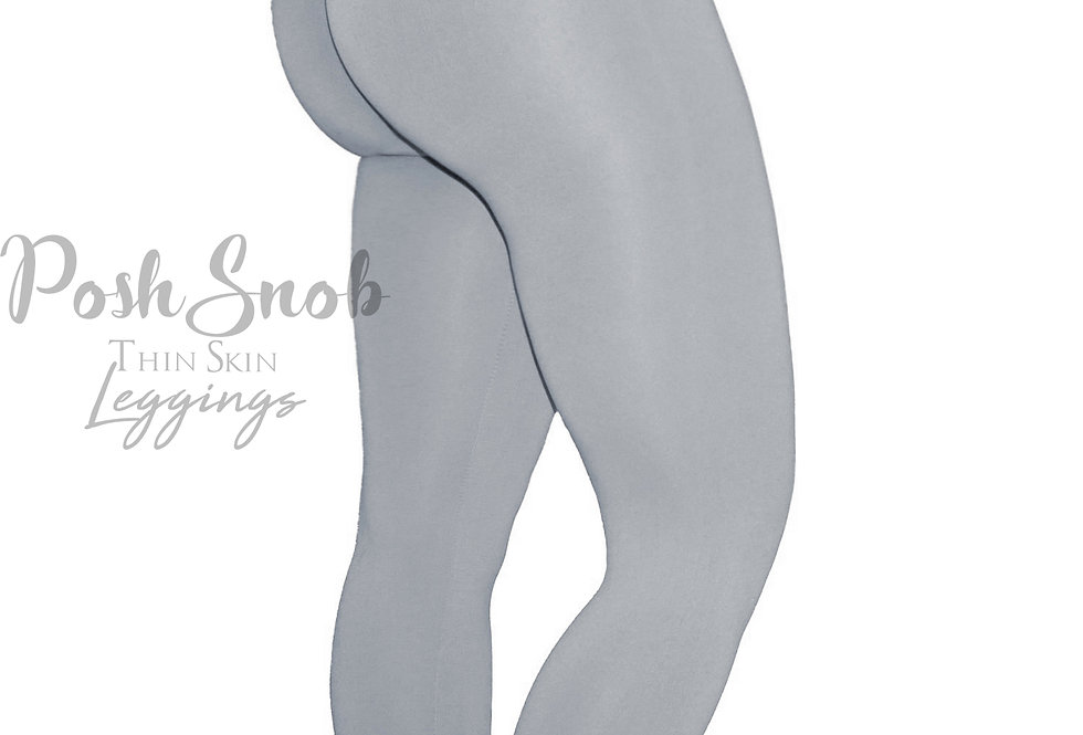 "PoshSnob ""Thin Skin"" Misty Grey Leggings"