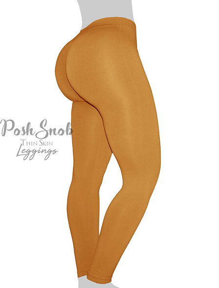 "PoshSnob ""Thin Skin"" Mustard Leggings"