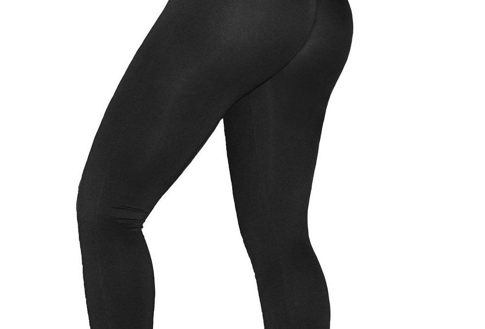 PoshSnob SPORT Black Deep Scrunch Exercise Leggings