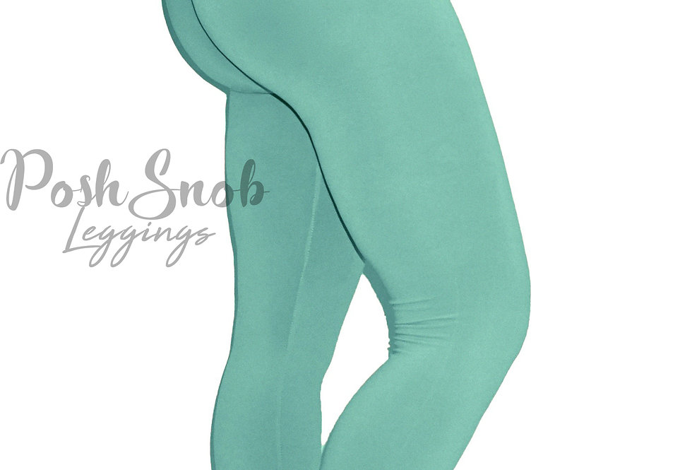 "PoshSnob ""Thin Skin"" Mint Lounge Leggings Long"