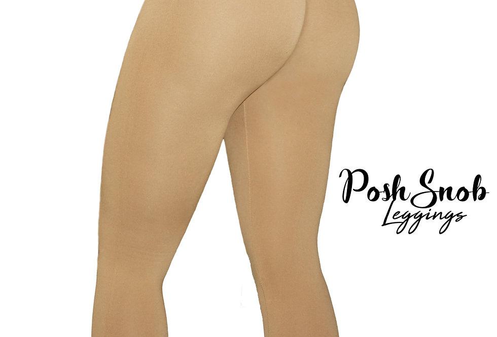 "PoshSnob ""Form Fit"" Fleece Tan High Waist Leggings"