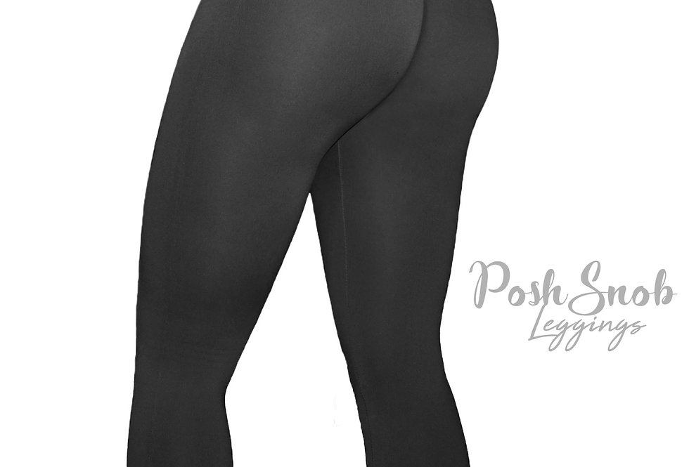 "PoshSnob ""Form Fit"" Fleece Black High Waist Leggings"